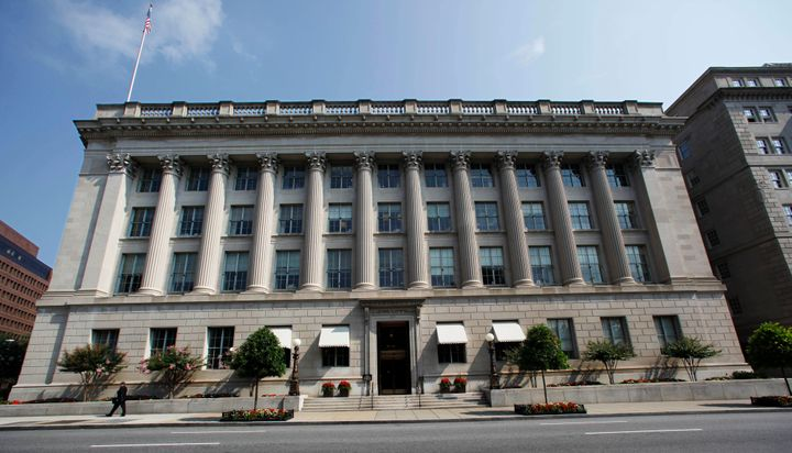 FILE - This Tuesday, Aug. 4, 2009, file photo shows the United States Chamber of Commerce building in Washington. Elite cyber