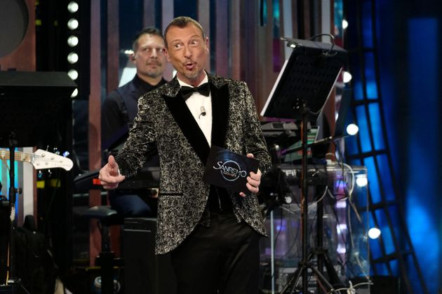 The presenter Amadeus during the final of Sanremo Giovani at the theater of the Municipal Casino of Sanremo,...
