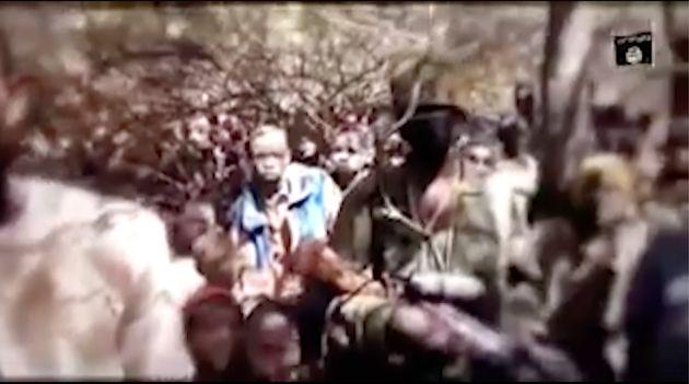Captura del vídeo enviado por Boko Haram, con los niños