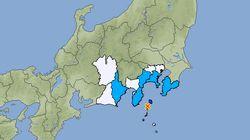 【地震情報】伊豆諸島の利島で震度5弱。緊急地震速報も発表される(UPDATE)