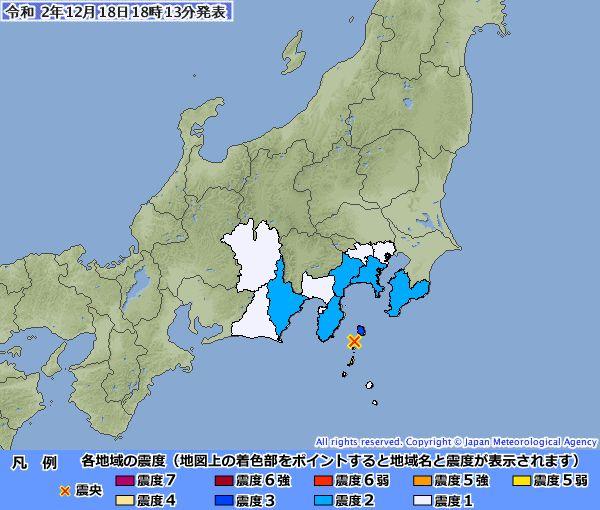 気象庁公式サイトの地震情報より