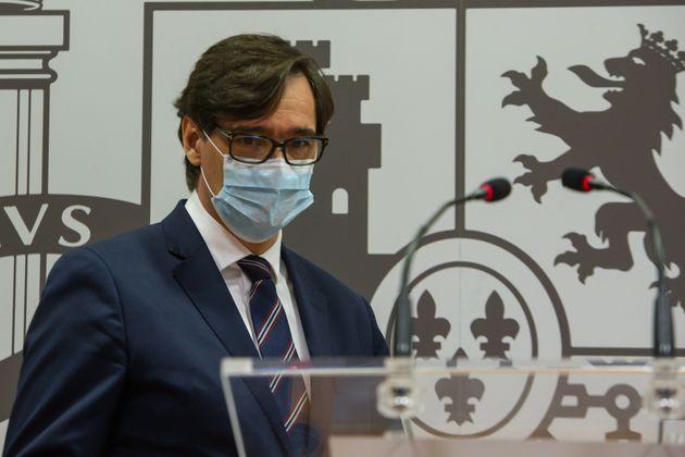 El ministro de Sanidad, Salvador Illa, el 4 de diciembre de 2020 en San Sebastián (Unanue/Europa...