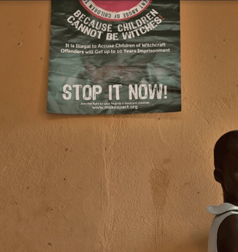 An information campaign in Nigeria photographed by Witchcraft and Human Rights Network executive director...