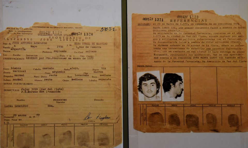 """Documents that form part of the """"Archives of Terror"""" are seen at the Documentation and Archive Center for Human Rights Defense, at the Justice Palace in Asuncion, on January 16, 2019. - The archives that were found in 1992 at a police station in Asuncion, contain the most important documentation of the exchange of intelligence information and prisoners among the military regimes of the region known as """"Operation Condor"""". The files served to order the arrest of former Paraguayan dictator (1954-89) Alfredo Stroessner and provided tools for numerous trials against Argentine, Chilean and Uruguayan repressors. (Photo by Norberto DUARTE / AFP)        (Photo credit should read NORBERTO DUARTE/AFP via Getty Images)"""