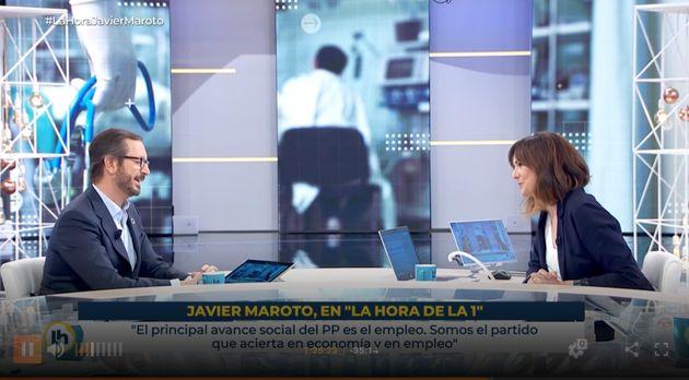 Javier Maroto y Mónica López en 'La Hora de la