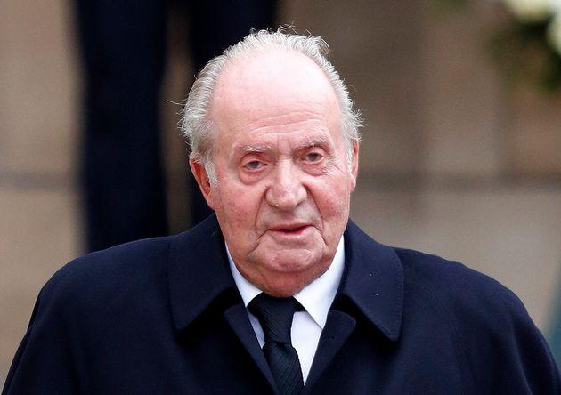 El rey Juan Carlos durante el funeral del Gran Duque de Luxemburgo, en mayo de