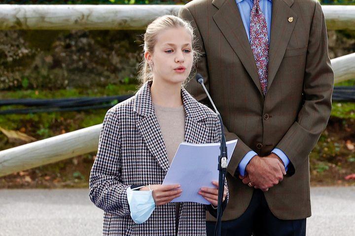 La princesa de Asturias, Leonor de Borbón, en Somao, pueblo ejemplar de Asturias 2020.
