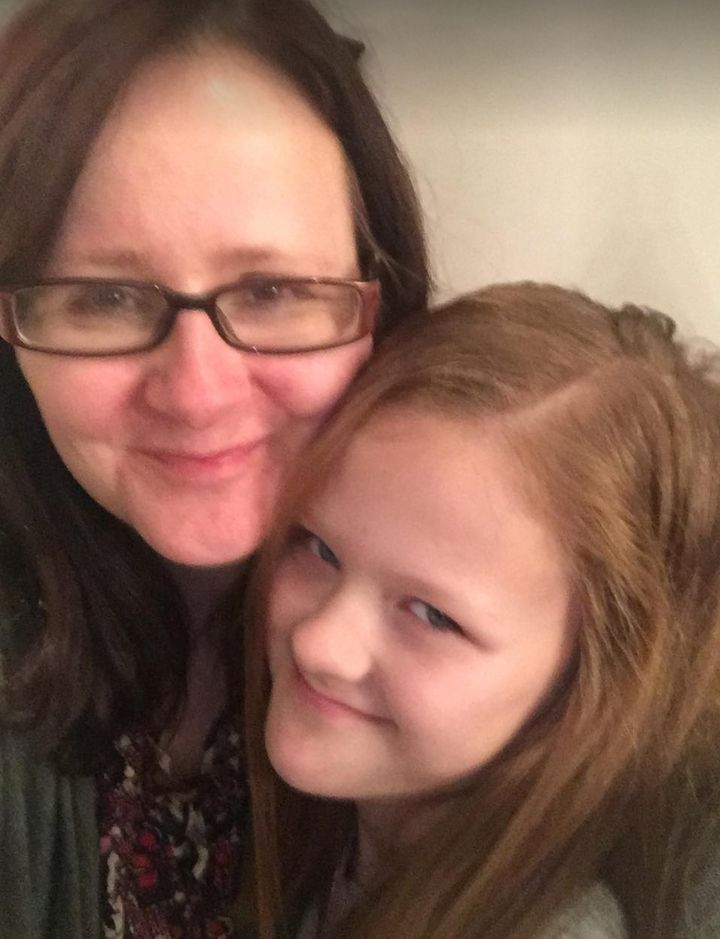 Angela Ferguson with her daughter Lucy, 13