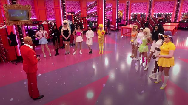The 12 queens come face to face with RuPaul for the first