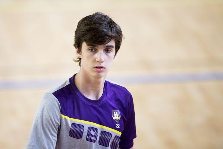 Pablo Urdangarin durante un partido de balonmano en septiembre de 2019.