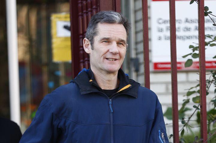 Iñaki Urdangarín, en enero de 2020, a las puertas del centro Don Orione donde trabaja como voluntario.