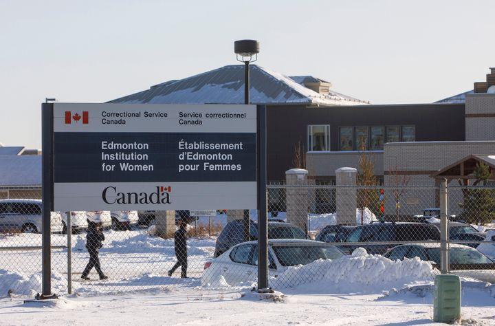 The Edmonton Institution for Women in Edmonton is shown on Nov. 11, 2020.