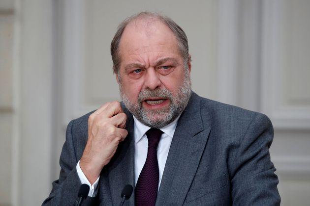 Eric Dupond-Moretti lors de la présentation du projet de loi contre les séparatismes à...