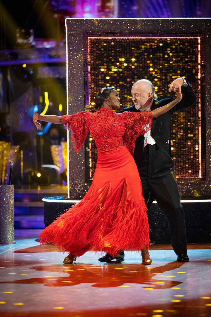 Oti Mabuse and Bill Bailey on the Strictly dance floor.