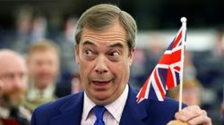 El líder ultra Nigel Farage, tras el cierre de Londres: