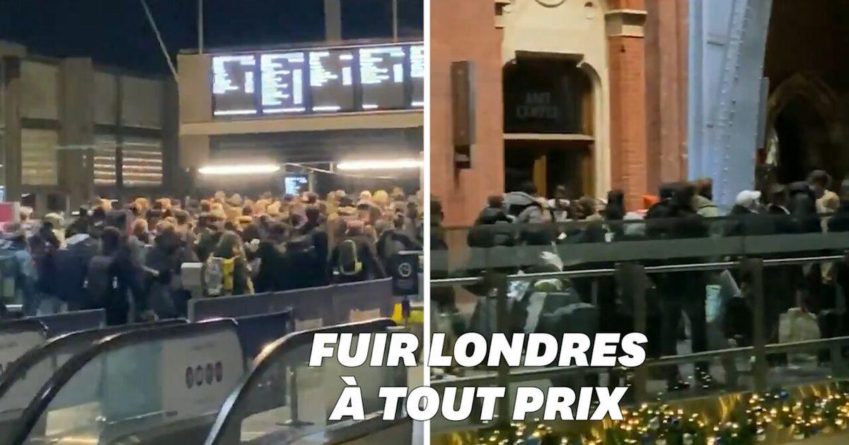 Après l'annonce du reconfinement, les Londoniens se précipitent dans les gares