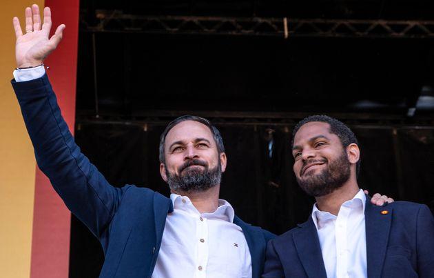 Santiago Abascal e Ignacio Garriga, en un acto de