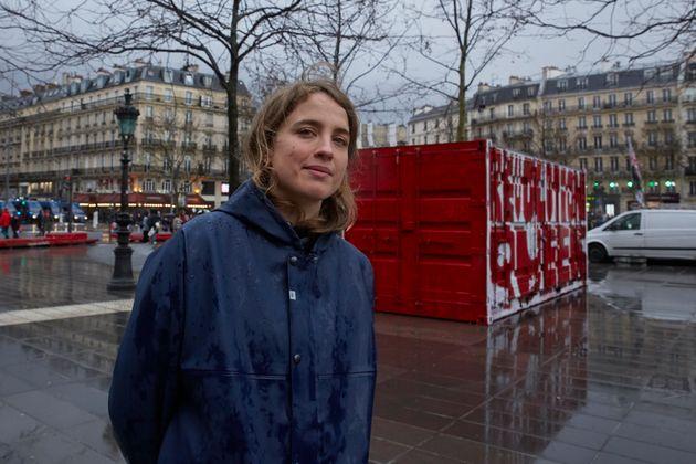 Adele Haenel durant la marche organisée à l'occasion de la Journée internationale...