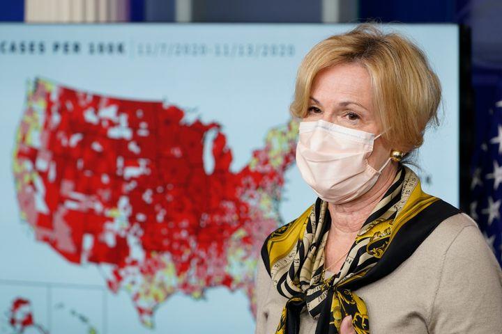 White House Coronavirus Response Coordinator Dr. Deborah Birx speaks during a news conference with the coronavirus task force
