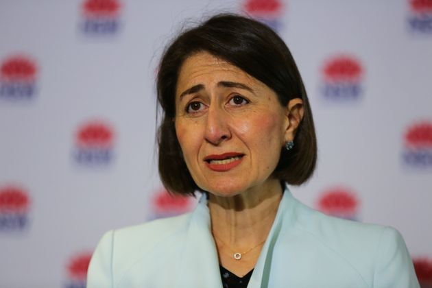 Premier of New South Wales Gladys Berejiklian speaks during a press conference to provide an update on...