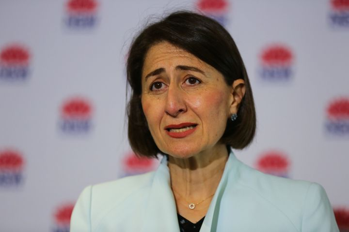 Premier of New South Wales Gladys Berejiklian speaks during a press conference to provide an update on the COVID-19 situation on December 21, 2020 in Sydney, Australia.