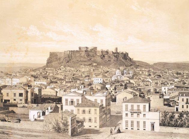 Αποψη της Αθήνας το 1850,...