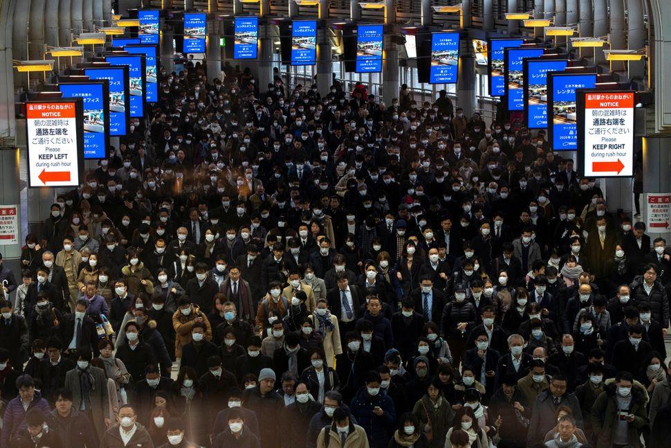 Crowds at Tokyo's Shinagawa station in Japan on March 2.