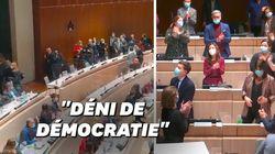 Tapage et hémicycle déserté par la droite: l'élection chahutée de Benoît