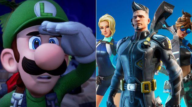 'Luigi's Mansion 3' y 'Fortnite'.