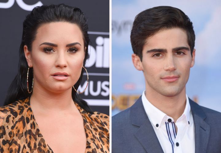 Lovato and her ex-fiancé MaxEhrich.