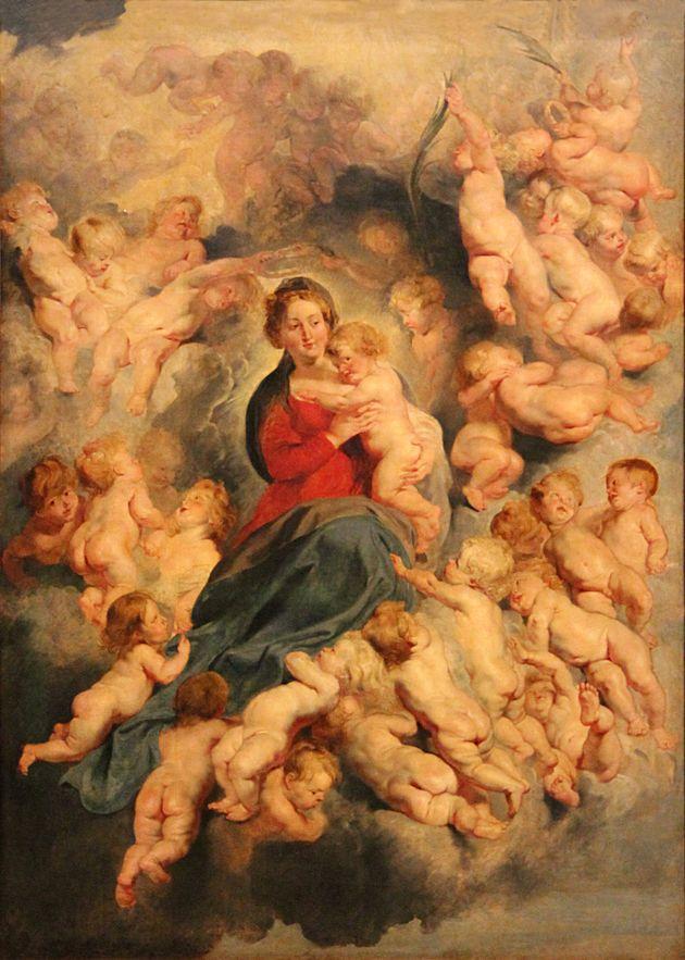 Έργο του Peter Paul Rubens Η Παναγία με το Χριστό αγκαλιά και όλα τα βρέφη που σφαγιάσθηκαν από τον