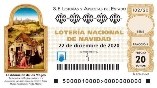 Un décimo de la Lotería de