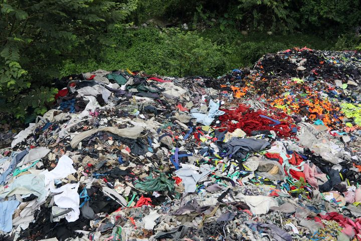 Unsold clothing is often incinerated or thrown into landfills. Some 17 million tons of textile waste was generated in th