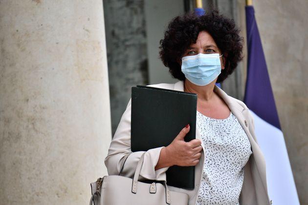 Frédérique Vidal, ministre de l'Enseignement supérieur et de la recherche, quittant...