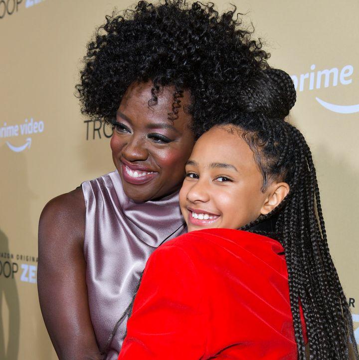 "Viola Davis with her daughter Genesis Tennon at the ""Troop Zero"" premiere on Jan. 13."