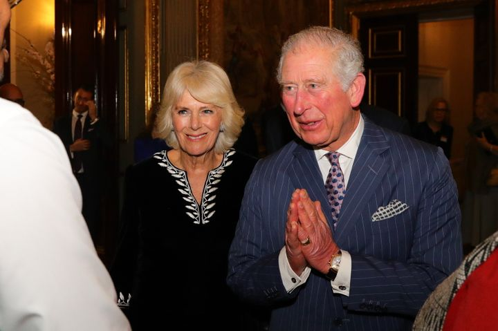 Camilla, Duchess of Cornwall, and Prince Charles attend a Commonwealth Day reception on March 9 in London.