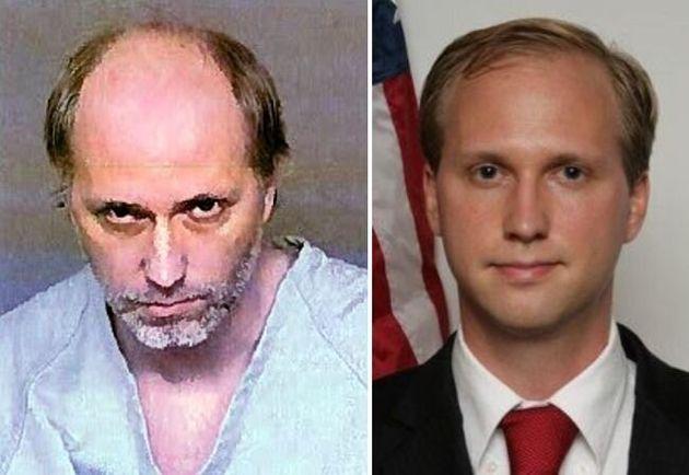 ネイサン・ダニエル・ラーソン容疑者。右は州議会議員に立候補した時の写真