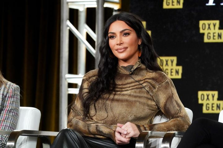 Kim Kardashian sur la chaîne de télé américaine Oxygen en janvier 2020.