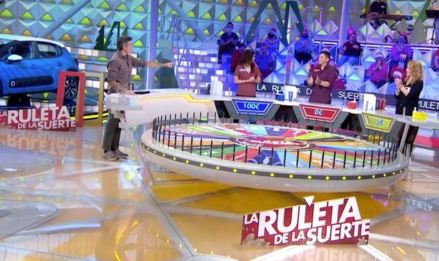 Jorge Fernández regaña a un concursante de 'La ruleta de la