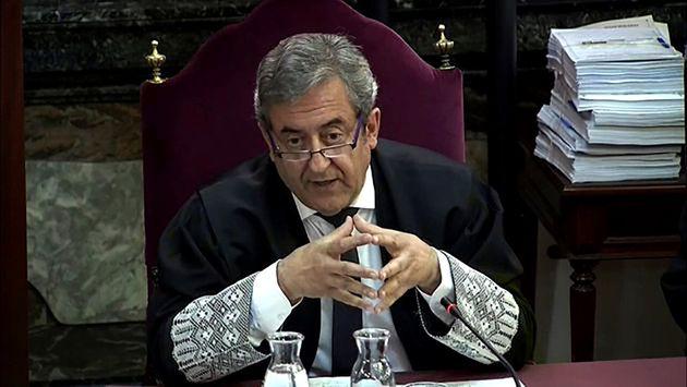 Javier Zaragoza, fiscal del Tribunal Supremo, durante el juicio del 'procés', el 4 de junio del