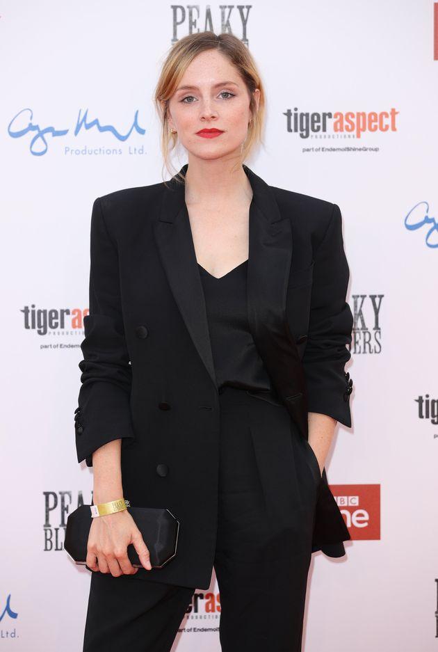 Sophie Rundle at the Peaky Blinders red carpet premiere last