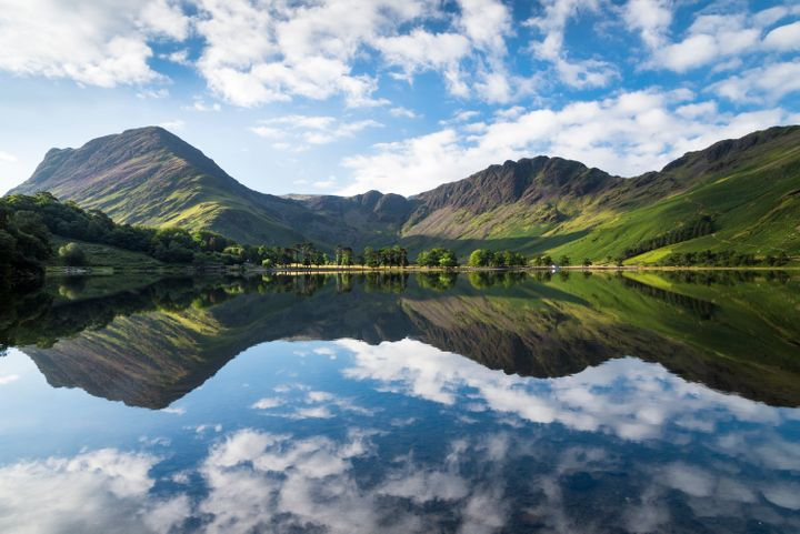 Buttermere lake early morning reflections.
