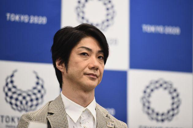 野村萬斎さん(2018年7月の就任会見で撮影)