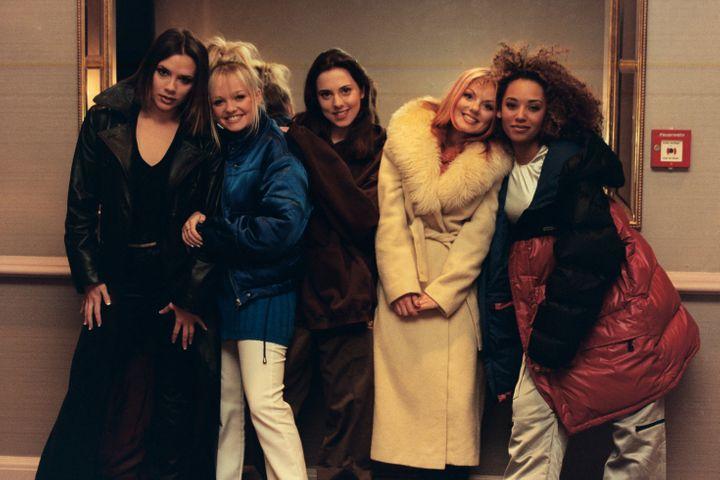 The Spice Girls pictured in the early days of their pop career