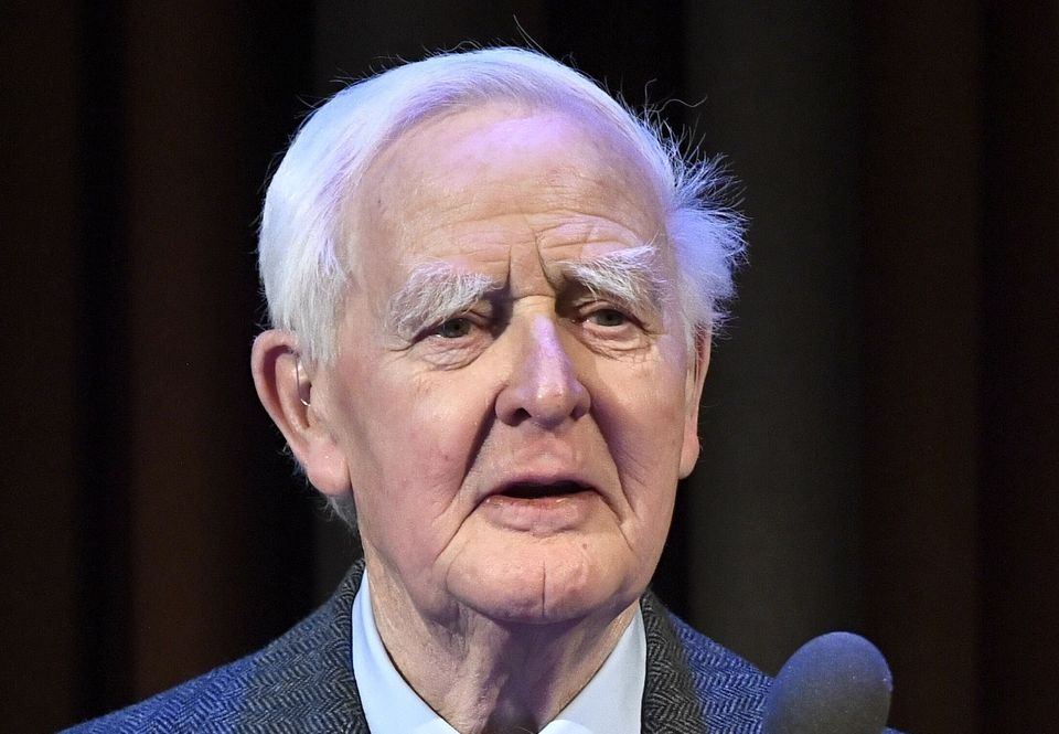 John le Carré, a British author who drew on his experiences as a Cold War-era spy to write novels about a bleak, moral