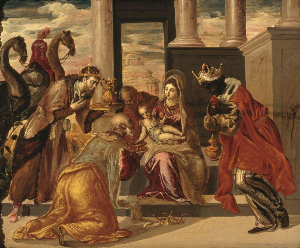 «Η προσκύνηση των Βασιλέων Μάγων», έργο του El Greco, 1568 (Μουσείο Σουμάγια, Πόλη του