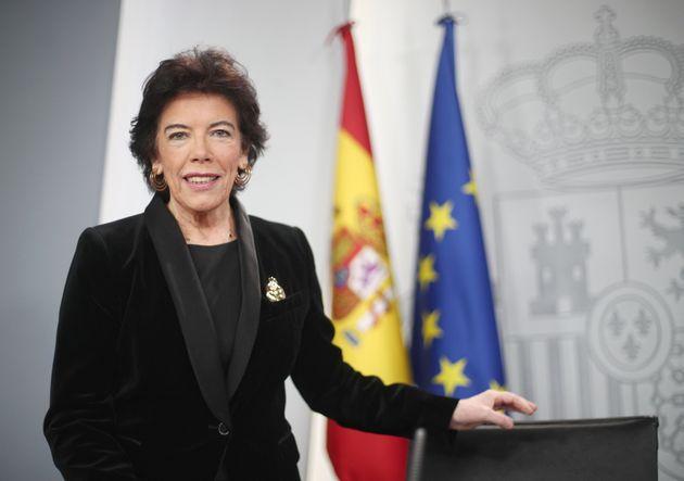 La ministra de Educación y Formación Profesional, Isabel