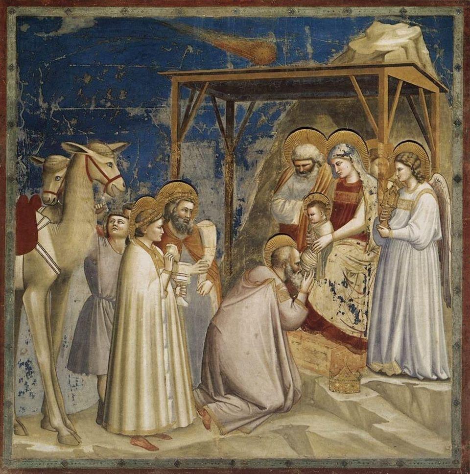 Νωπογραφία έργο του Τζόττο στην Cappella degli Scrovegni της Πάντοβας (Παρεκκλήσιο των Σκροβένι ή Cappella