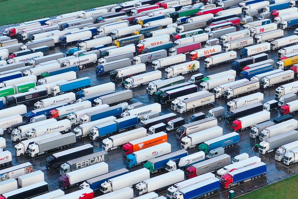 Thousands of lorry drivers face spending Christmas trapped in temporary lorry parks or at the roadside...