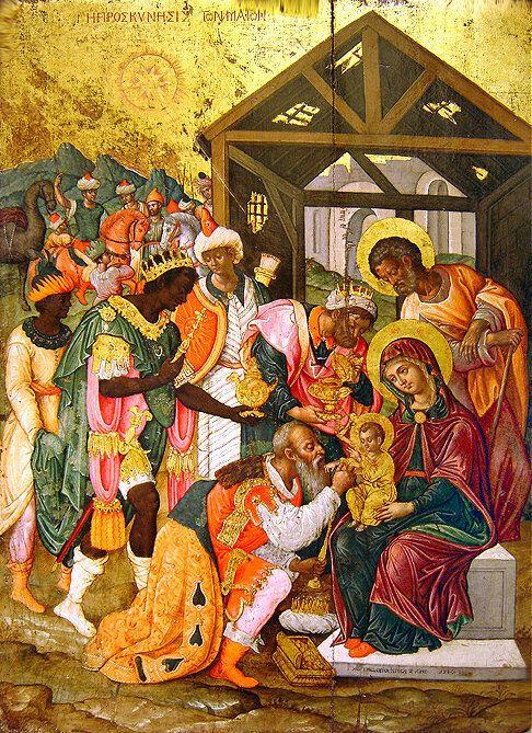 Η προσκύνηση των Μάγων σε εικόνα στο Βυζαντινό και Χριστιανικό Μουσείο, στην